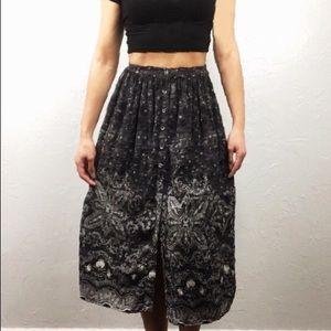 American Eagle Boho high rise midi skirt XS